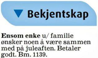 dc3b4d27 VILLE BETALE: Reiduns annonse i november i 2012 traff svært mange nordmenn  rett i hjertet. Foto: Faksimile Aftenposten Aften 22.11.13 ,