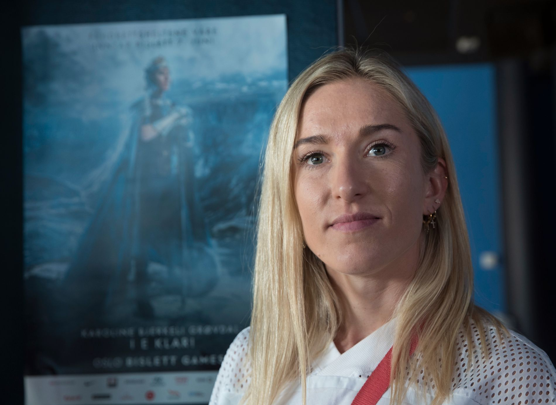 BISLETT-PROFIL: Karoline Bjerkeli Grøvdal, her avbildet på en pressekonferanse denne uken, sesongdebuterer på 3000 meter hinder torsdag kveld.