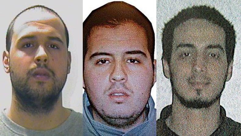 KOBLES TIL BELGIA-ANGREPET: Khalid El Bakraoui (t.v.), Ibrahim El Bakraoui (midten) og Najim Laachraoui (t.h.)