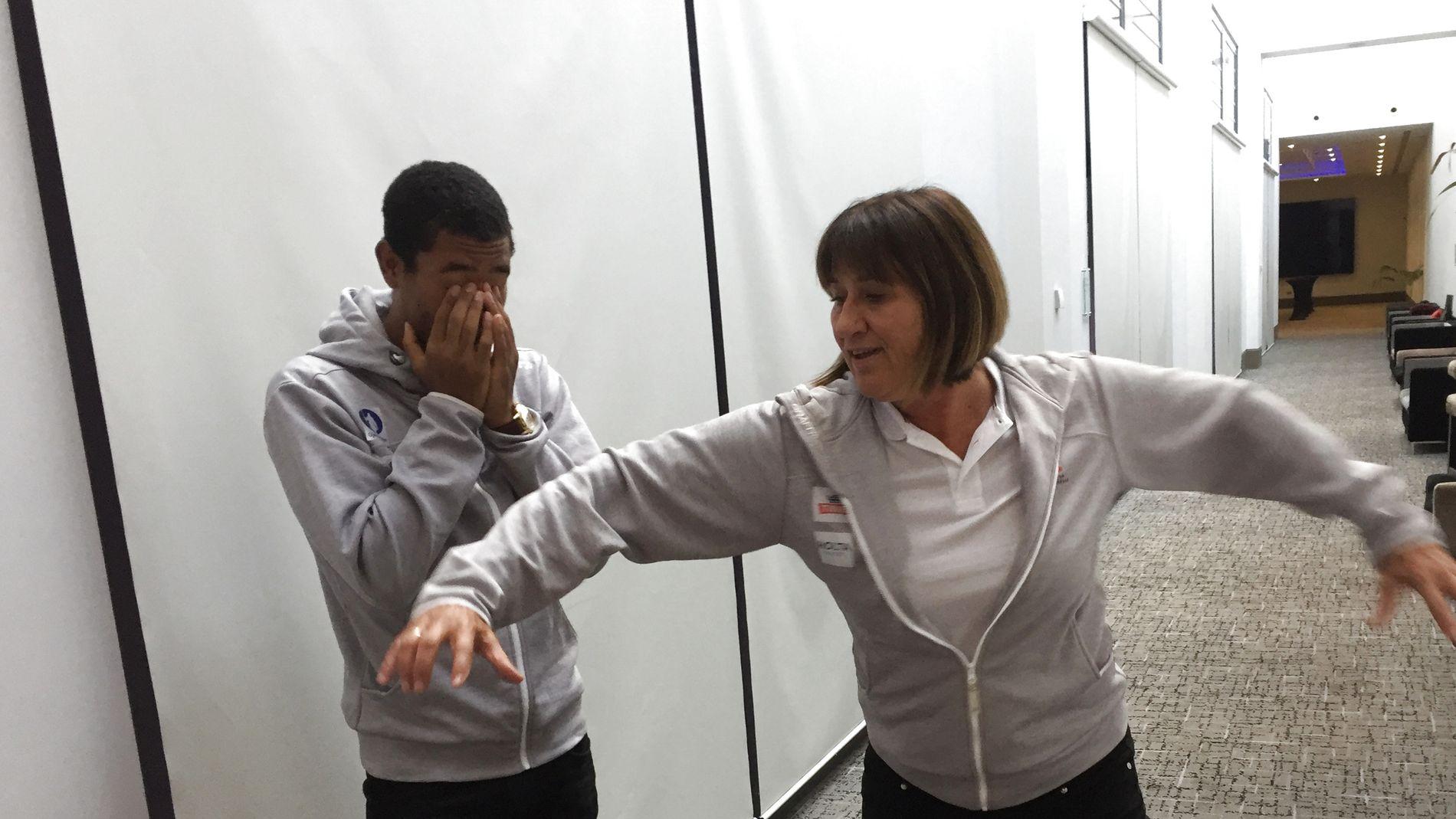– FRYKTELIG: Slik beskriver Mette Karin Ninive stillen til Jonathan Quarcoo (t.v.) da han begynte med sprint for fire år siden.