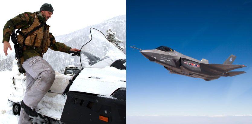 FREMTIDSFORSVAR: I dag la Forsvarsdepartementet frem forslaget til ny langtidsplan for Forsvaret - der både Hæren og nye jagerfly skal vokte nordområdene. Foto: FORSVARET/LOCKHEED-MARTIN
