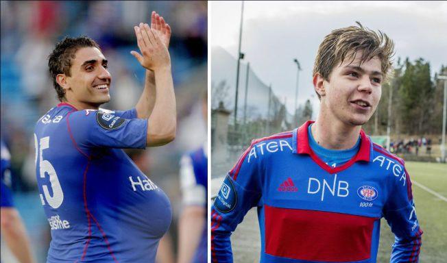 EKS-VIF: Både Moa og Torgeir Børven har en fortid som Vålerenga-spillere. Her er duoen avbildet i henholdsvis 2010 og 2013.