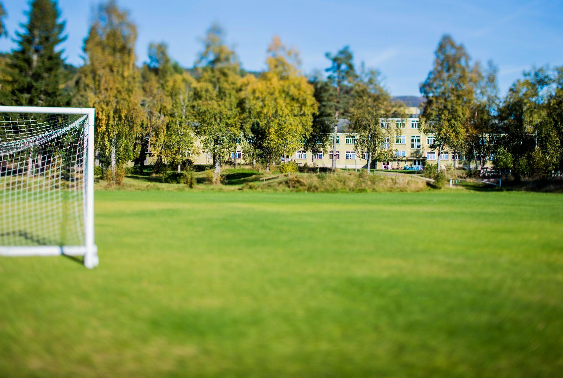 FRILUFT: Den psykiatriske sykehusavdelingen ligger ned mot et stort grøntområde som er et populært utfluktssted for innbyggere i alle aldre.