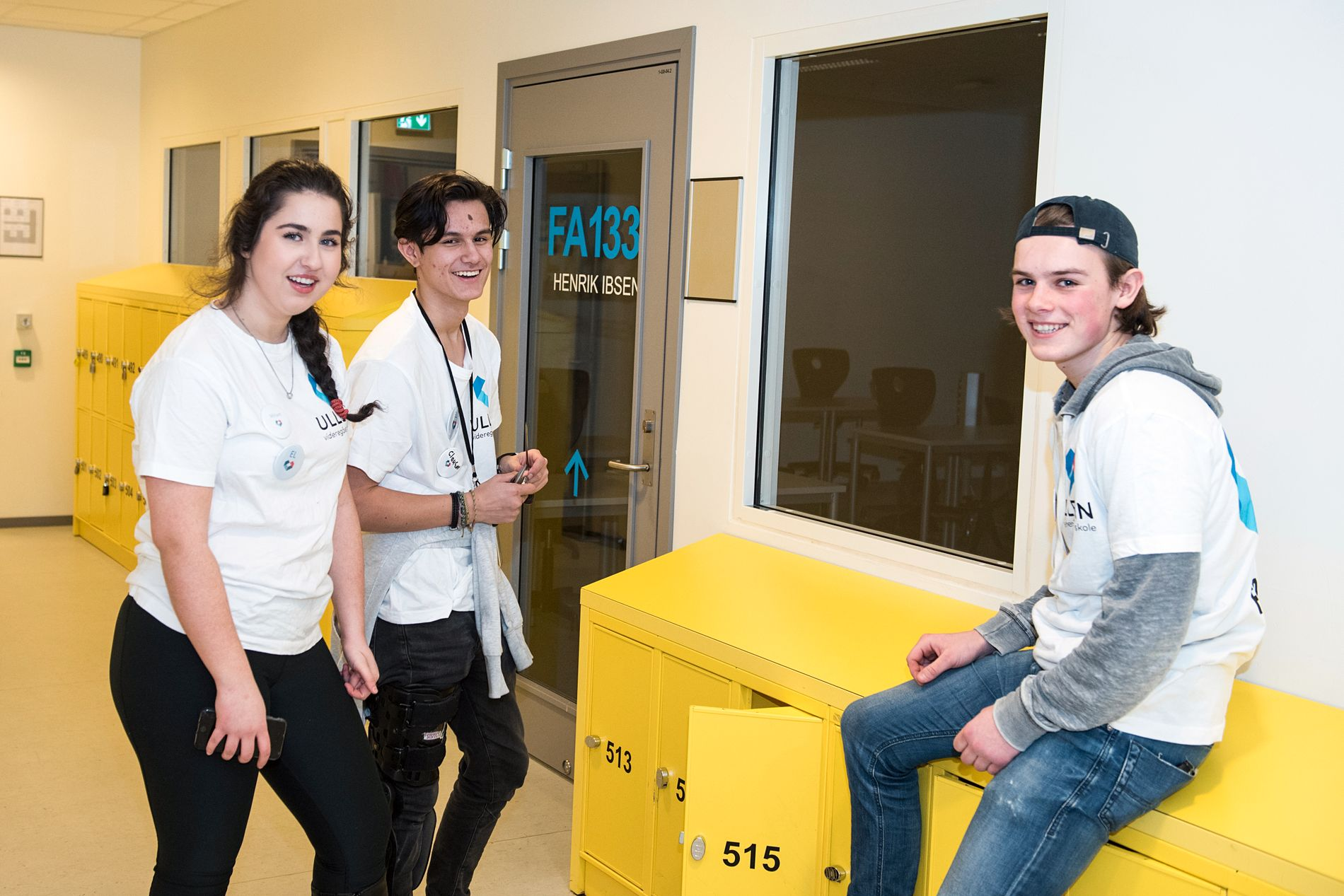 POSITIVE: Elektrofagelevene Miriam Lindgren, Alexander Clausen og Tor Aabye er sikre på at de får mange jobbmuligheter etter vgs.