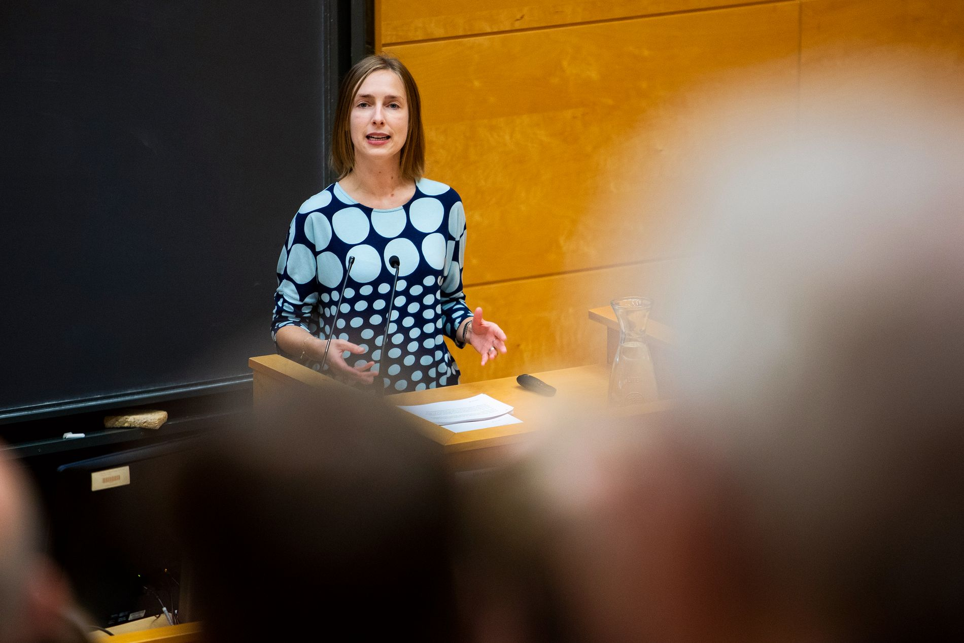 MINISTEREN: Iselin Nybø (V) er høyere utdannings- og forskningsminister. Torsdag la hun frem tall på søkere til universiteter og høyskoler.