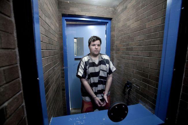 FENGSLET I USA: John Kristoffer Larsgard fra Oslo har sittet fengslet i Arizona siden 2011. Dette bildet ble tatt da VG intervjuet ham i fengselet i 2012.