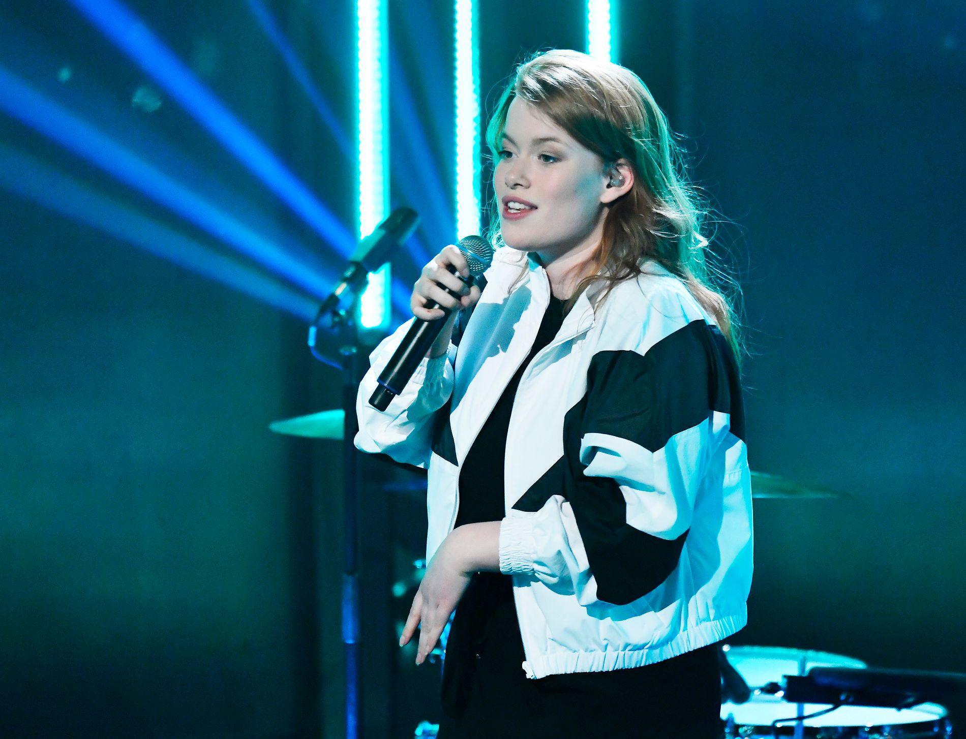 LEVERTE: Hannah Emilie Grung, imponerte kraftig da hun inntok Sentrum Scene foran godt og vel 1.000 publikummere.