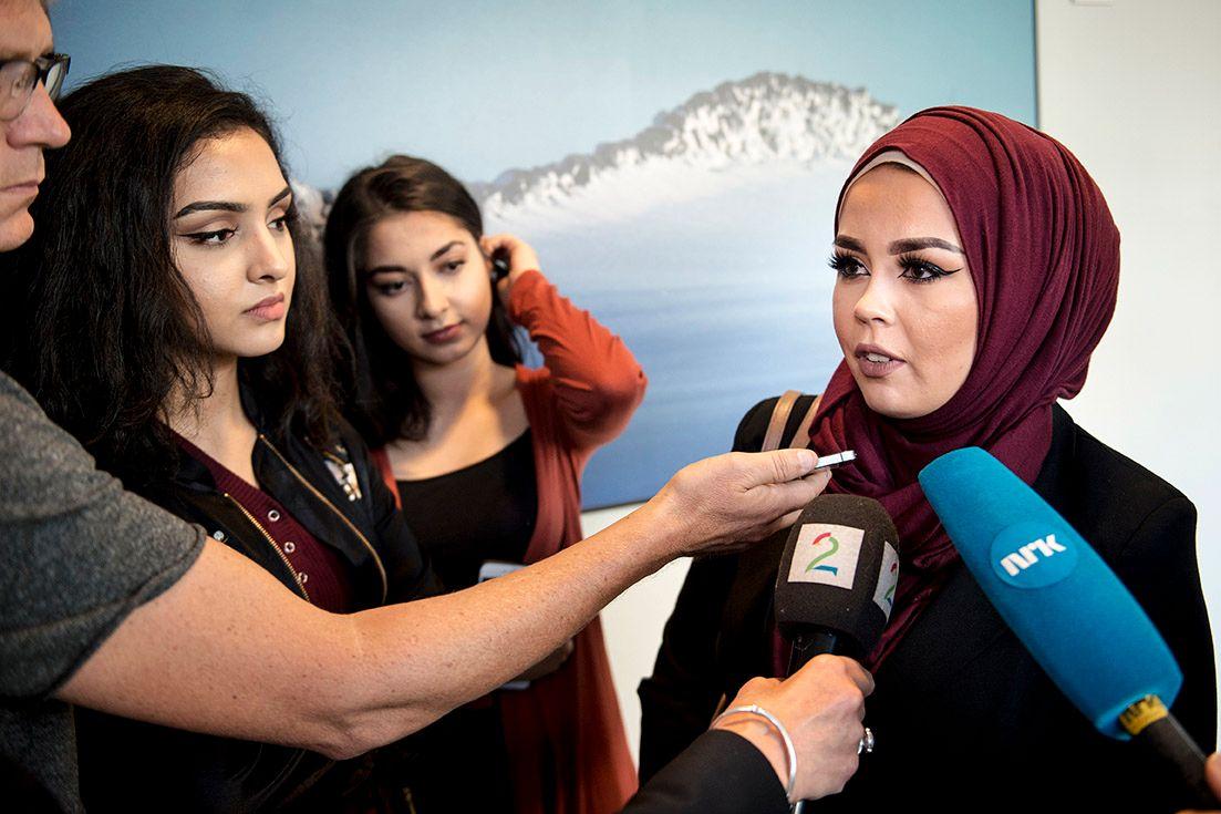 «HIJABSAKEN»: Saken mellom Malika Bayan og frisør Merete Hodne fikk nasjonal oppmerksomhet.