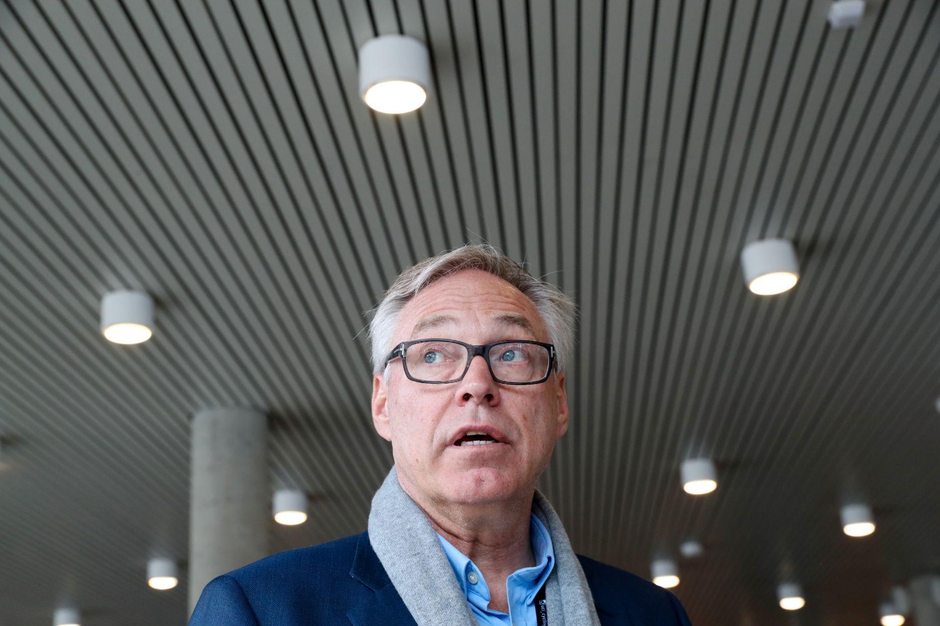 STØTTE: Sykkelpresident og sjef for sykkel-VM Harald Tiedemann Hansen får støtte fra styret i forbundet. Her under VM i Bergen.