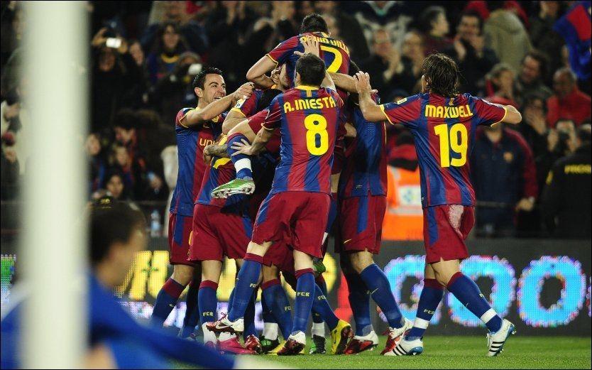 BARCELONA-HELT: Pedro scoret to ganger og senket motstanderen for Barcelona søndag kveld. Foto: AP