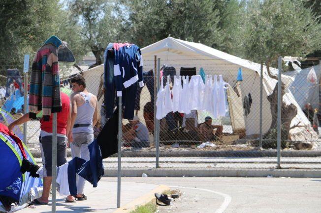 KUMMERLIGE FORHOLD: Lysbakken dro til Lesbos for å se med egne øyne hvordan situasjonen for flyktninger er på de greske øyene.