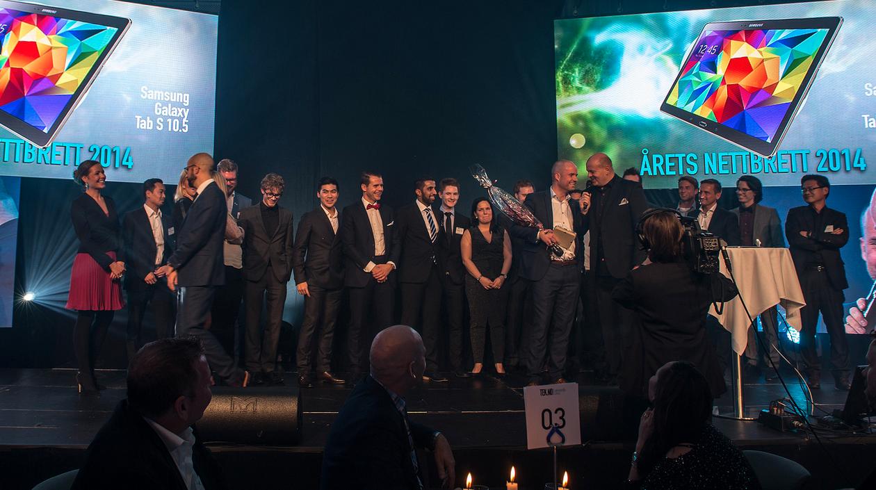 ÅRETS NETTBRETT: I fjor vant Samsung prisen for årets nettbrett. I år skal det deles ut ti priser, blant annet årets bredsbåndsaktør, årets mobil og den prestisjetunge hedersprisen.