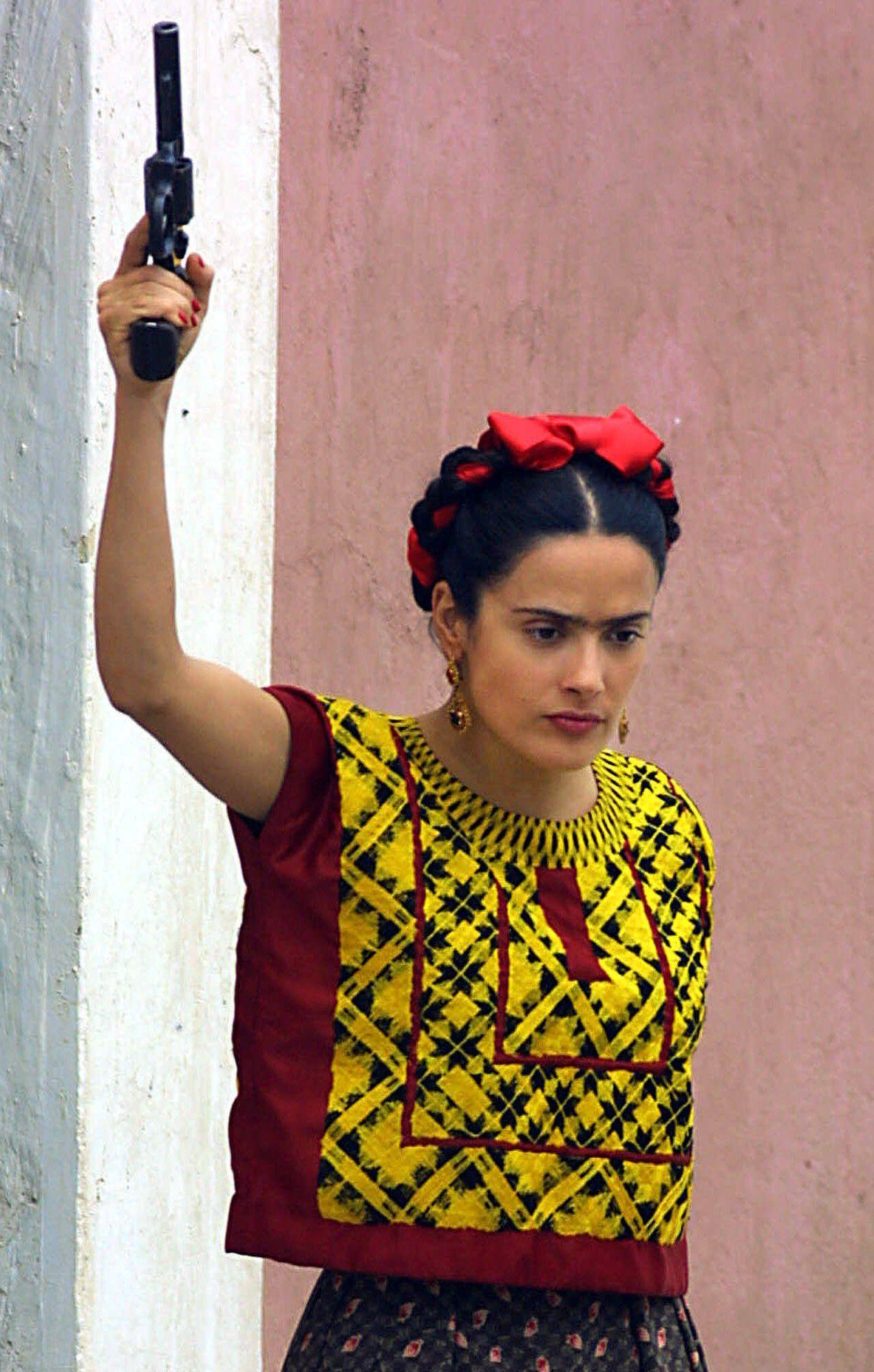 FRIDA: Salma Hayek som Frida Kahlo i Hollywood-filmen fra 2002.