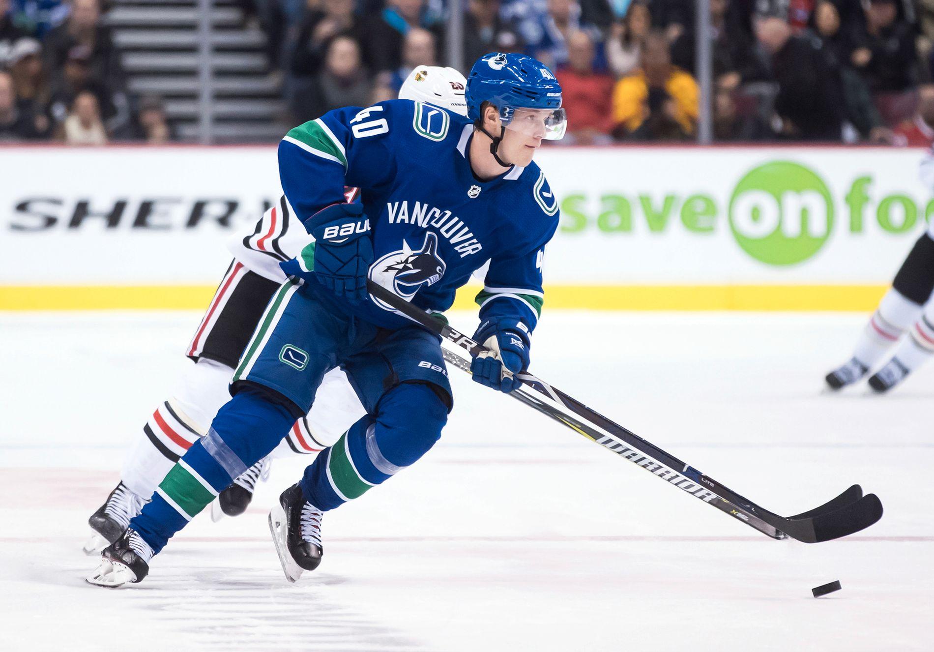 STJERNE: Kun 20 år gammel har Elias Pettersson virkelig begynt å dominere i NHL.