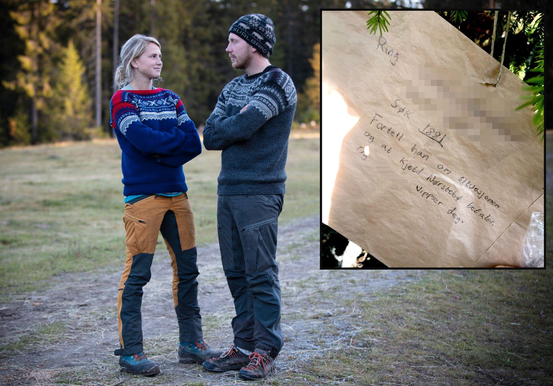 SAMARBEIDET: Begge finalistene, Tonje Frøystad Garvik og Ketil Nørstebø, var med på å hamstre mat fra utsiden under innspillingen av «Farmen», noe TV 2 synes at er trist.