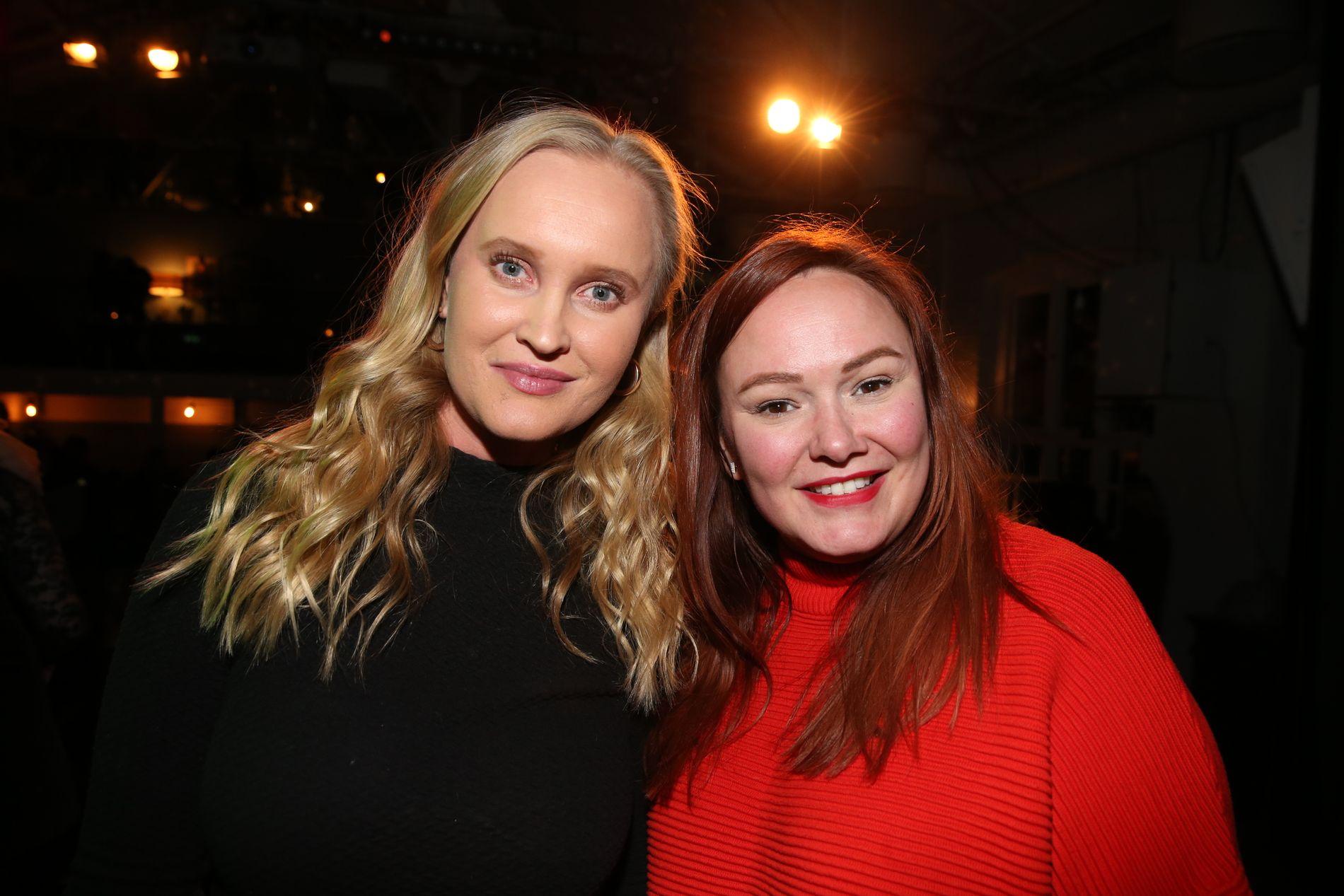 FULL STØTTE: Sofie Frøysaa og Trine Lise Olsen reagerer, i likhet med Sigrid Bonde Tusvik, på fraværet av kvinnelige representanter under fredagens «Humorprisen».
