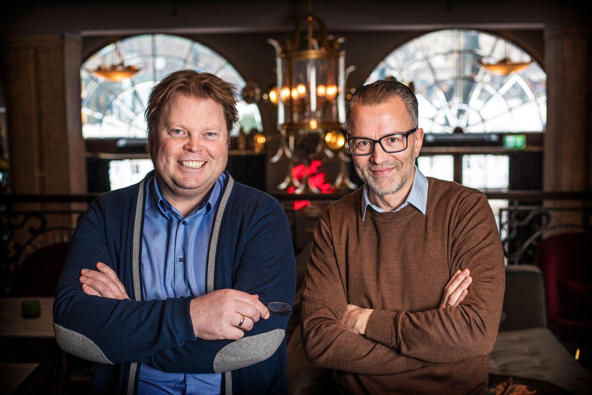 PARTNERS-IN-CRIME: Jørn Lier Horsts første utgivelse på eget forlag blir thrilleren «Nullpunkt» skrevet sammen med krimforfatteren og journalisten Thomas Enger (44).