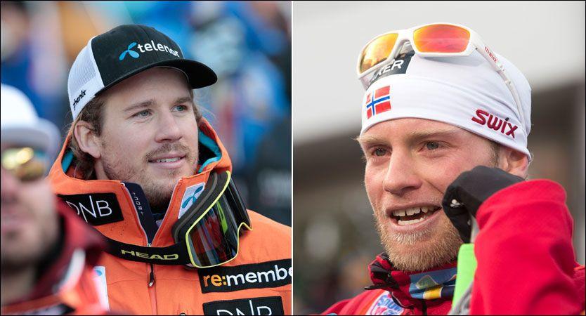OL-HÅP: Kjetil Jansrud (t.v.) og Martin Johnsrud Sundby er to av Norges OL-håp om en snau måned. Begge tror på konkurranse også i tidlig alder. Foto: Lise Åserud/Terje Bendiksby, NTB Scanpix