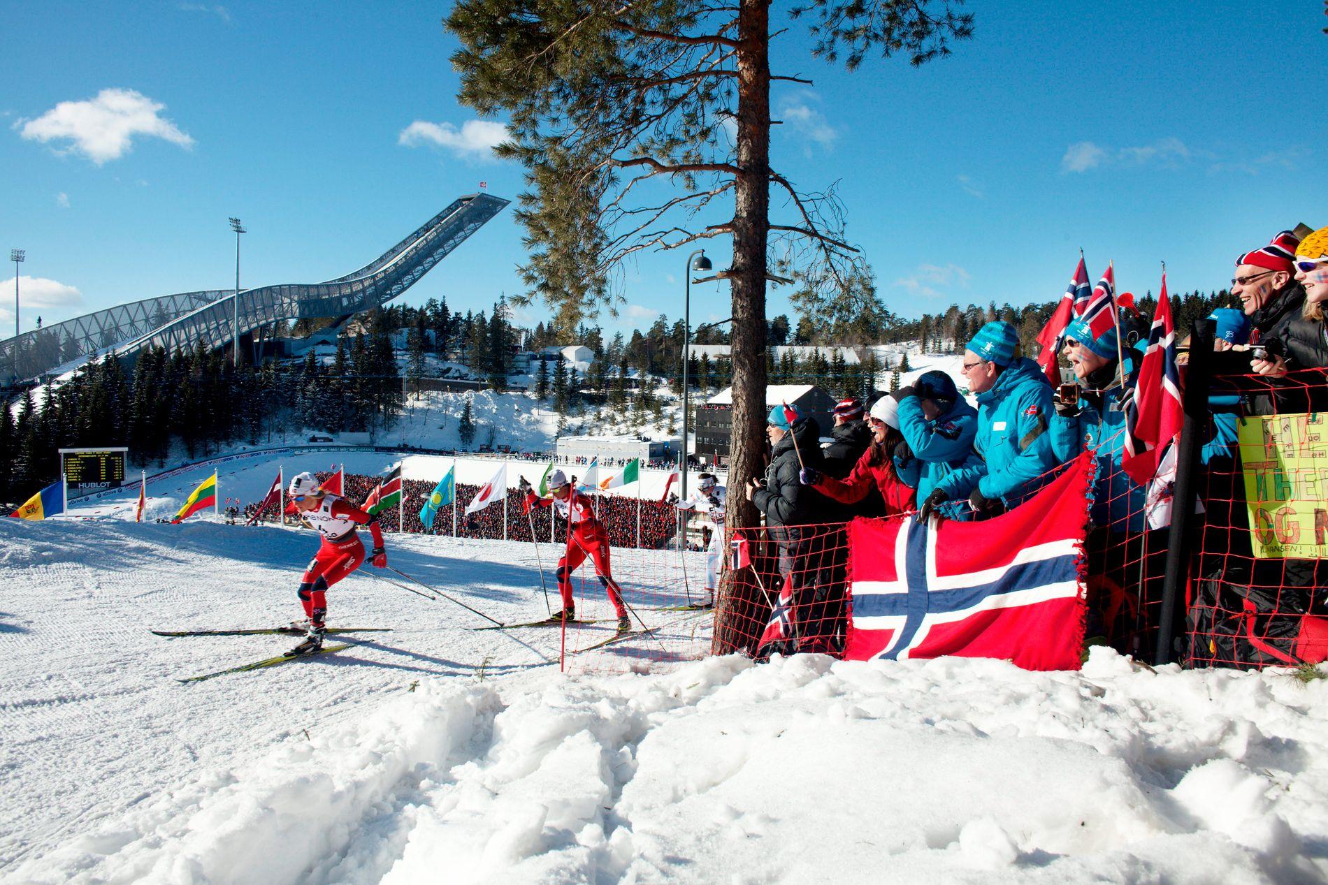 TURBULENTE ÅR: Norges skiforbunds pengebinge har krympet betydelig etter bortfallet av automatinntekter. Bildet er fra ski-VM i Oslo i 2011. Mesterskapet ga et overskudd på 68 millioner kroner.