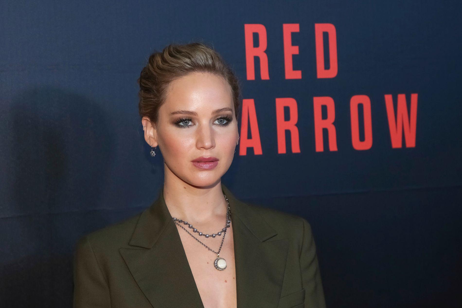 FILMYNDLING: Jennifer Lawrence på «Red Sparrow»-premiere i Washington tidligere denne uken.
