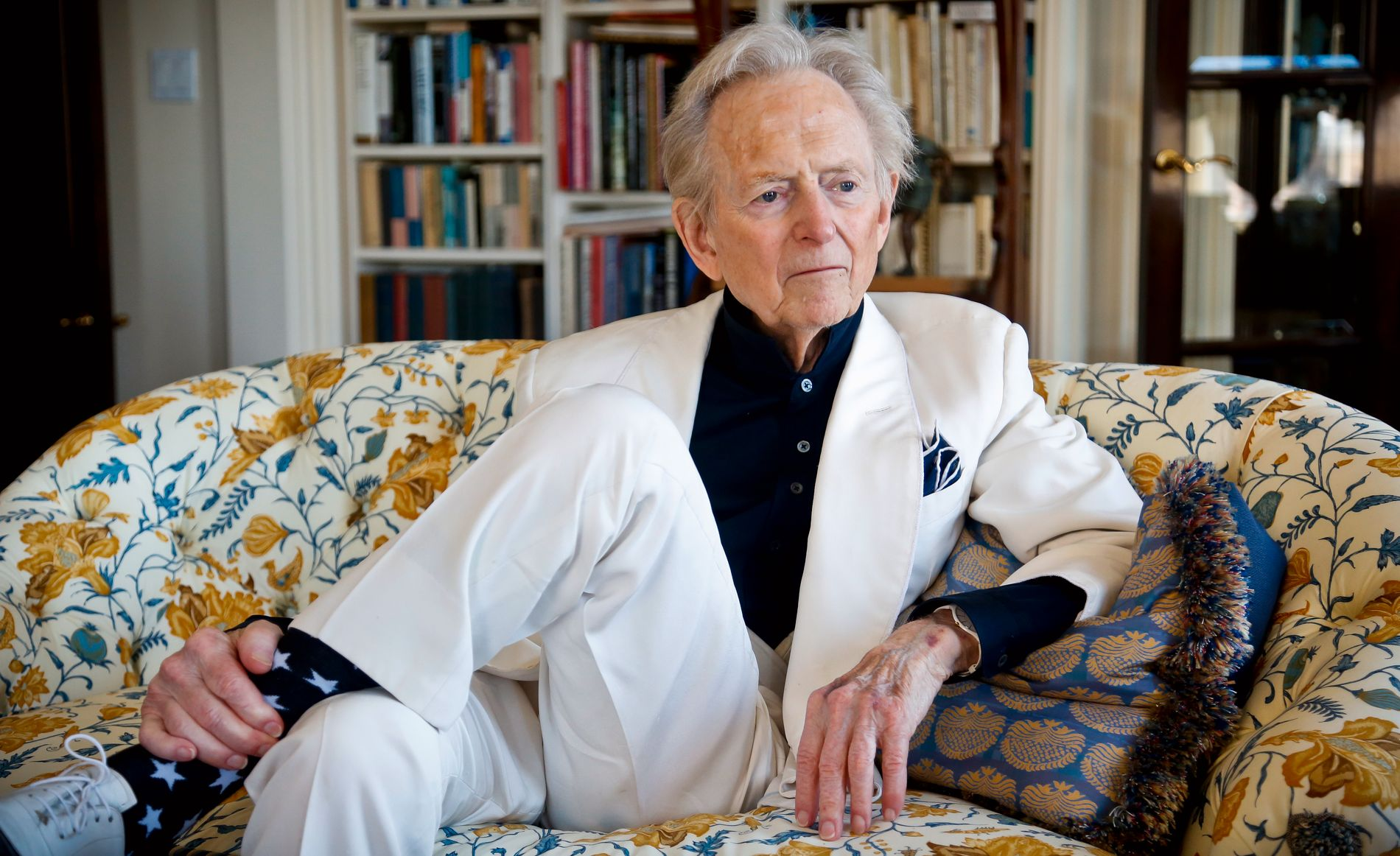 JOBBET TIL DET SISTE:  Tom Wolfe under lanseringen av «The Kingdom of Speech» i 2016.