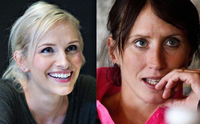 REAGERER: Sportsanker Anne Rimmen og gullvinner Marit Bjørgen reagerer på Se og Hørs arbeidsmetoder.Disse bildene er tatt i forbindelse med andre saker.
