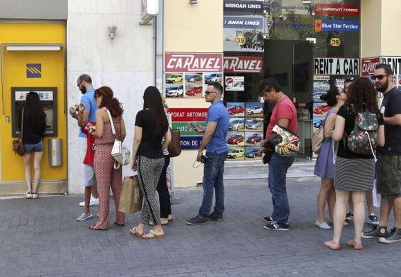 En av tre greske minibanker tomme for euro