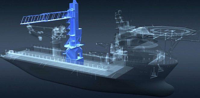 Gangbro på autopilot: Kongsberg Gruppen har utviklet en ny type gangbro som holder seg stabil med hjelp av egne motorer og ved å samarbeide med skipets navigasjonssystem. Dermed kan et skip, for eksempel, koble seg trygt til en vindmølle til havs uten manuell styring