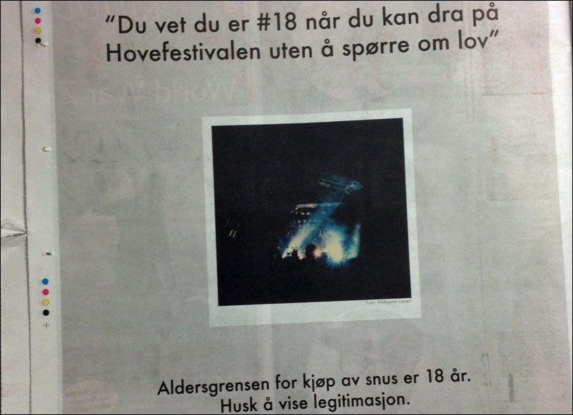 BRYTER LOVEN: Swedish Match, som blant annet står bak salgssuksessen General, må betale dyrt for denne kampanjen rettet mot ungdom. Faksmilie: Dagbladet Foto: