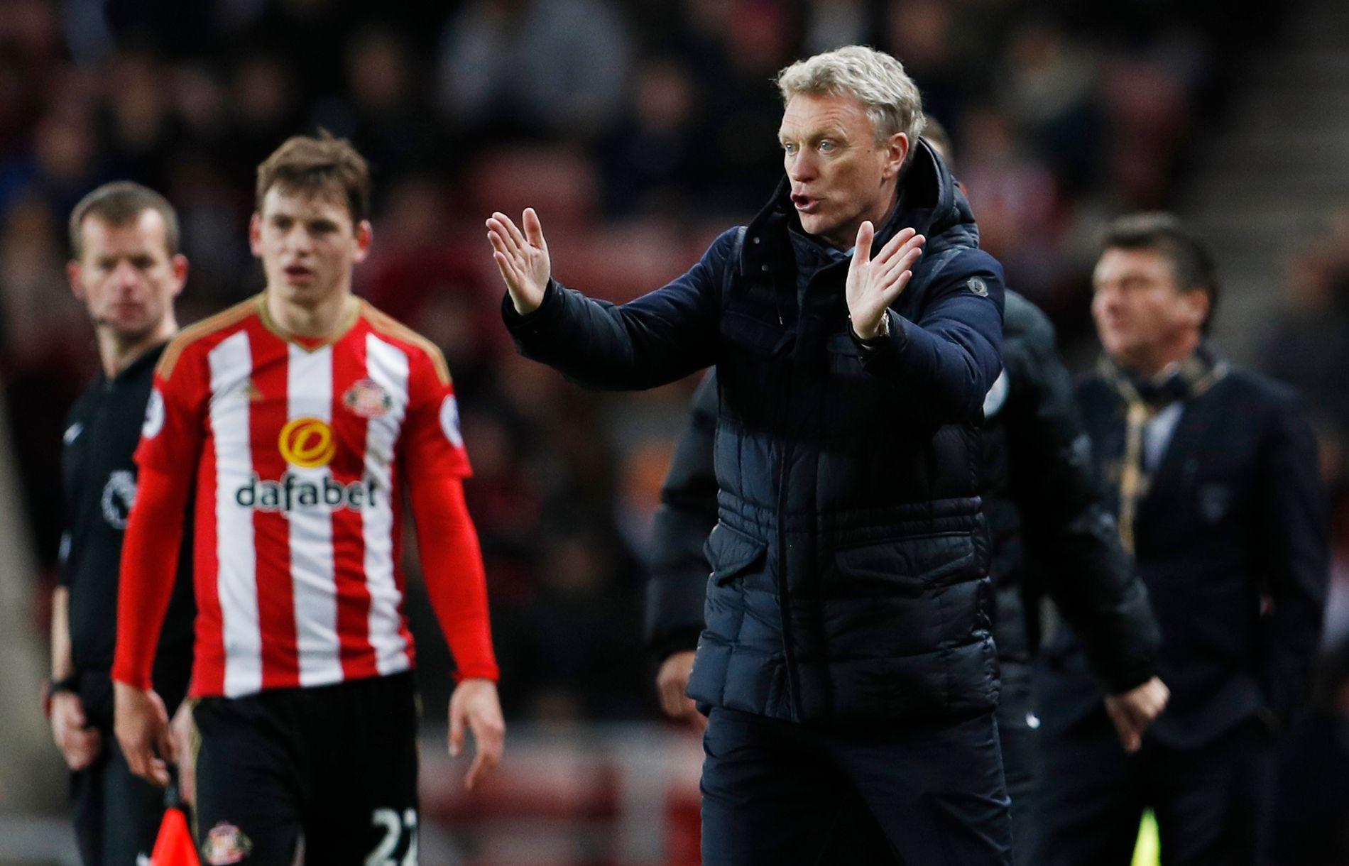 SLITER: Daivd Moyes dirigerer troppene fra sidelinjen når hans Sunderland møter Watford i 17. desember denne sesongen.
