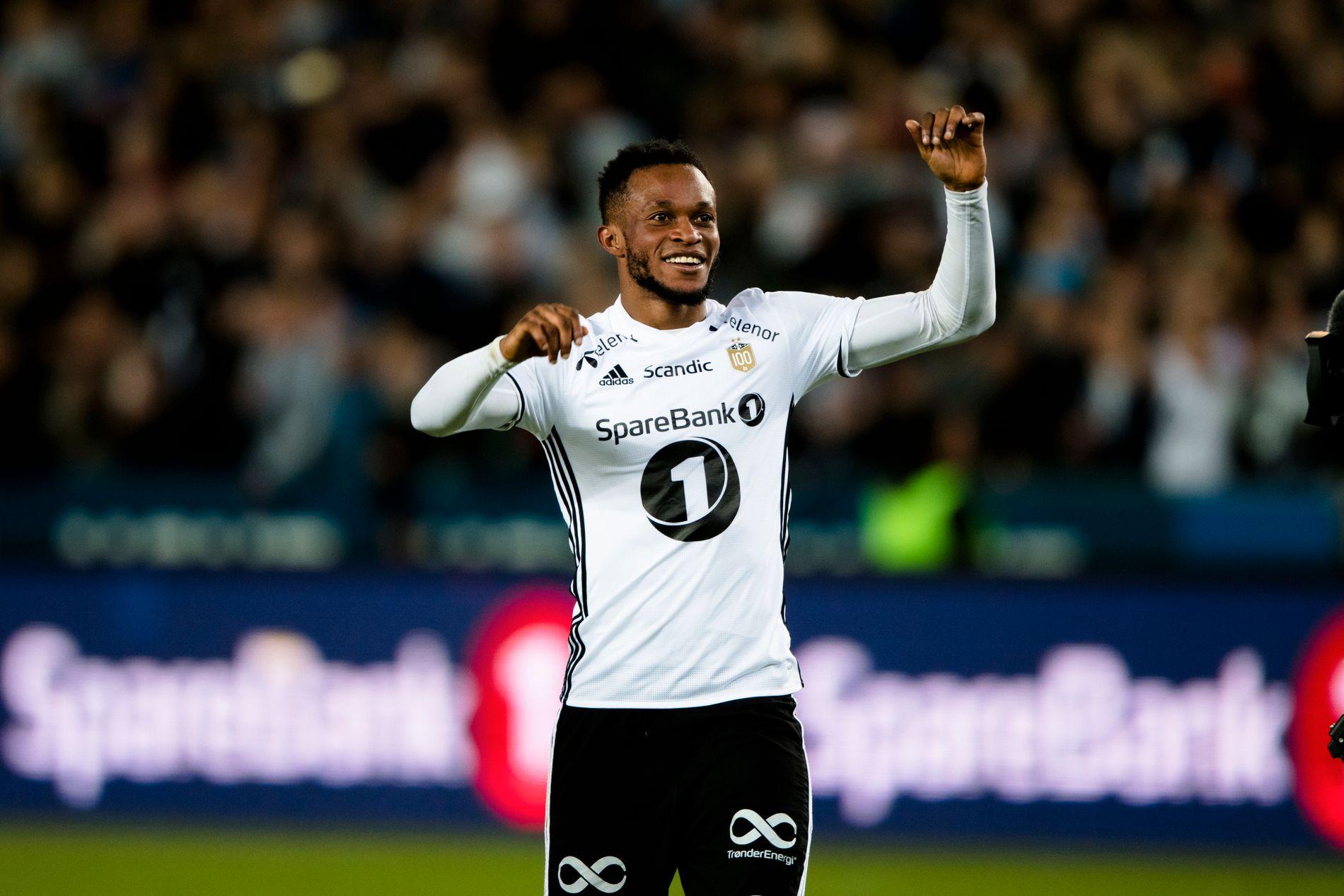 Samuel Adegbenro kom inn fra benken og sendte Rosenborg til til himmels - og videre til gruppespillet i Europa League.