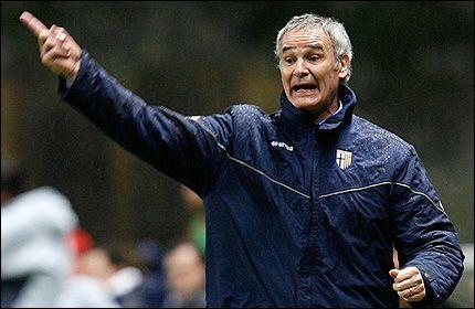 FIKK PRESTISJEJOBB: Claudio Ranieri leder her Parma i UEFA-cupkamp mot portugisiske Braga i vinter. Nå overtar han Juventus i gjensynet med Serie A. Foto: AP