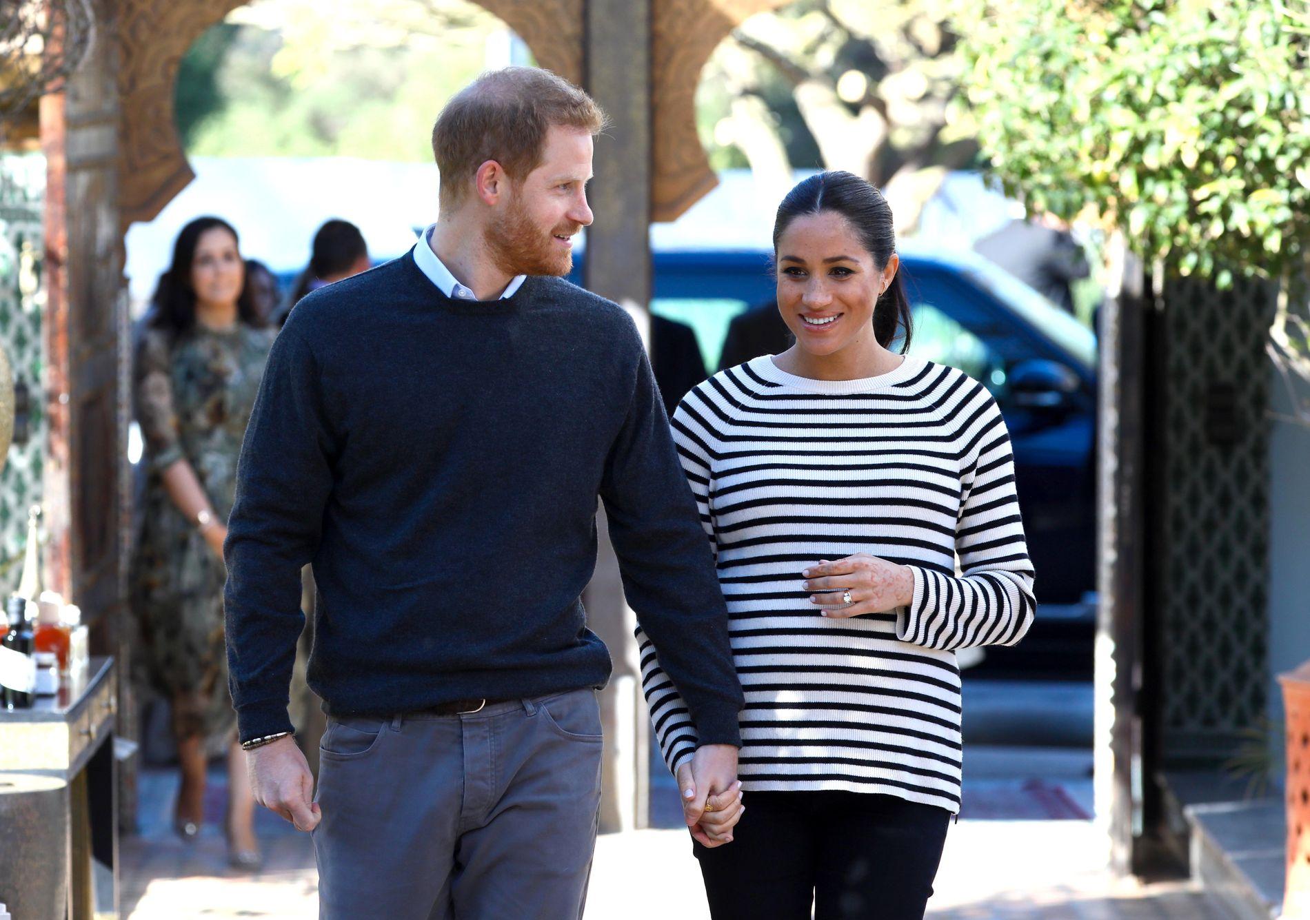 HETSES: Meghan, hertuginnen av Sussex, har blitt utsatt for omfattende netthets. Her med prins Harry 25. februar.