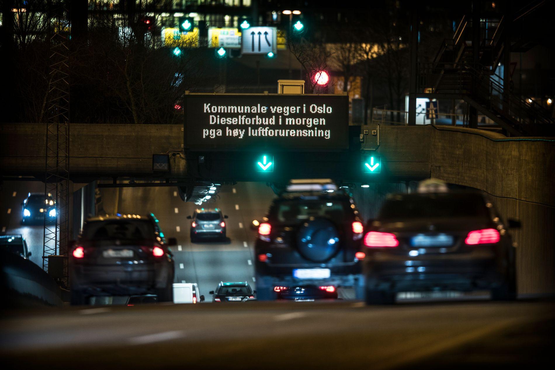 VARTE IKKE LENGE: Det midlertidige dieselforbudet i Oslo er opphevet, opplyser Bymiljøetaten.
