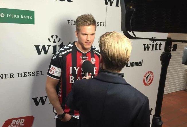 TIL DANMARK: Espen Lie Hansen ble lørdag presentert som Midtjylland-spiller, og flytter til Danmark etter årets sesong.