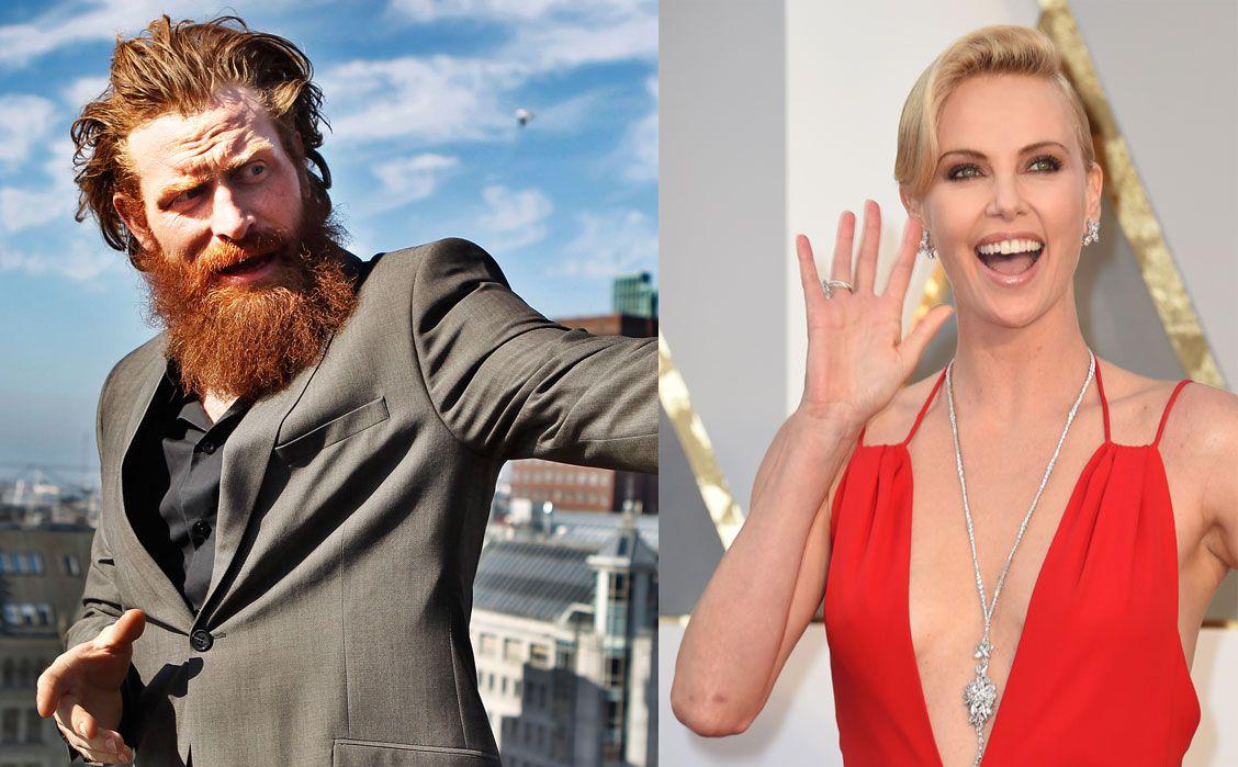 BLIR MAKKERE: Norske Kristofer Hivju og sørafrikanske Charlize Theron.