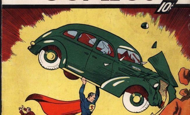 ER DET ET FLY?: Nei, hverken et fly eller en fugl: Dette er det første bildet man så av Superman.