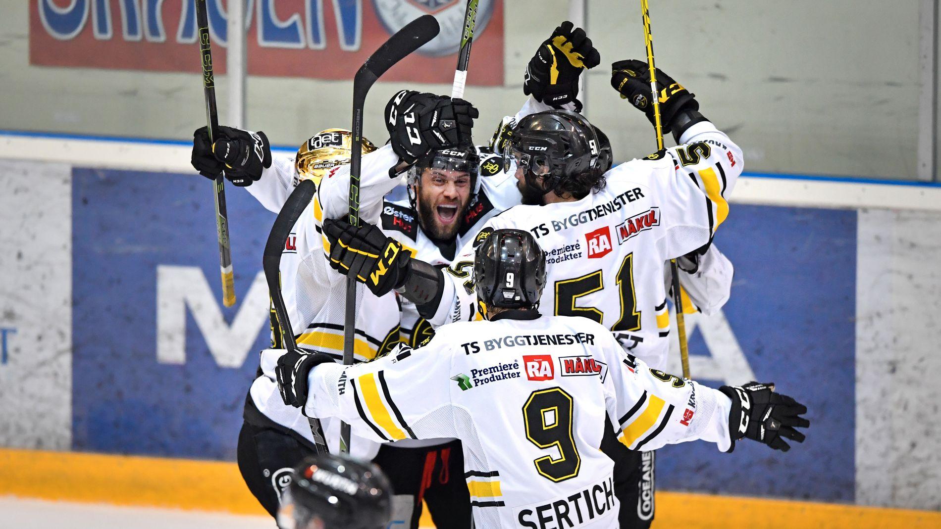 TABELLTOPP: Fjorårets mestere Stavanger Oilers slo Lillehammer 6-3 torsdag kveld. Da Stjernen snublet mot Storhamar er rogalendingene ensomme på toppen av tabellen i Get-ligaen.