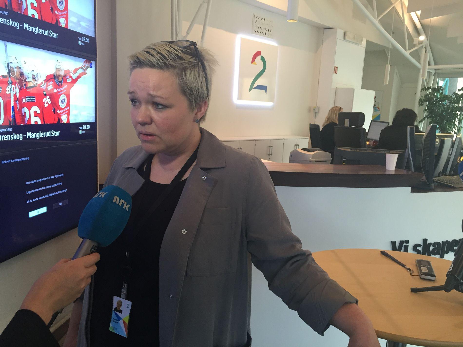 KLUBBLEDER: Henrikke Helland i TV 2.