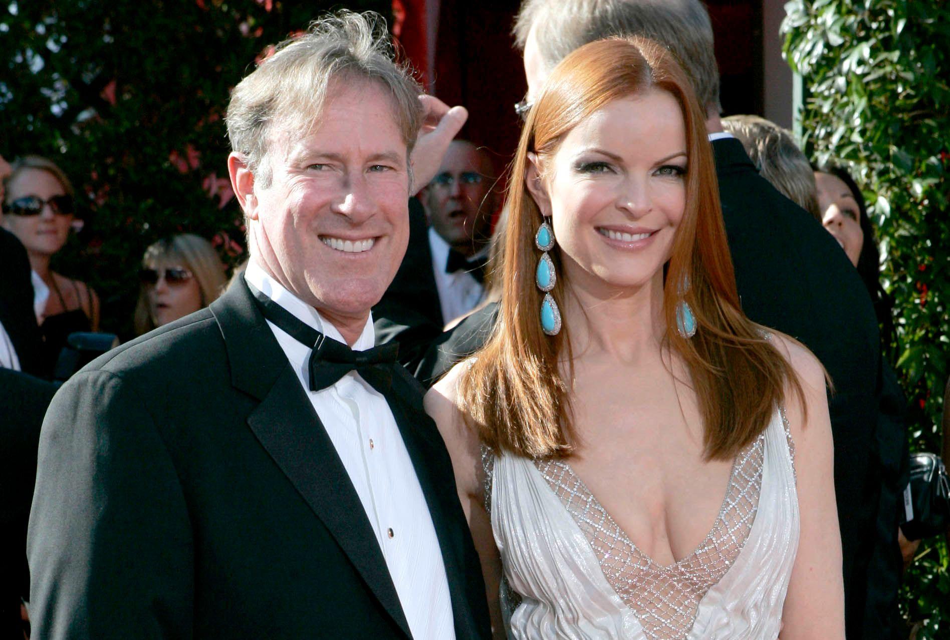 FRISKE OG RASKE: Marcia Cross og Tom Mahoney giftet seg i 2006. Mahoney ble selv rammet av kreft i 2009.