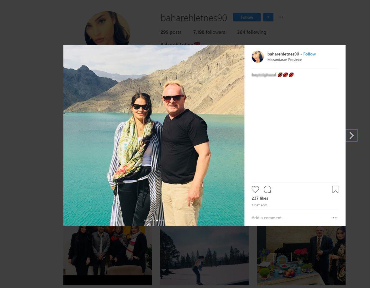 PÅ IRAN-TUR: Dette bildet av Per Sandberg og Bahareh Letnes er lagt ut på hennes åpne Instagram-konto.