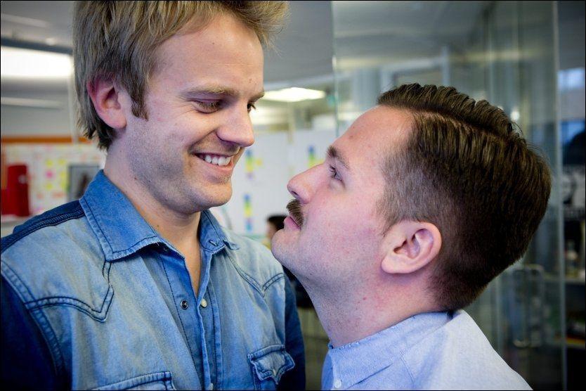 BLIR TV-KOLLEGER: Erik Solbakken og Hasse Hope. Foto: TERJE BRINGEDAL