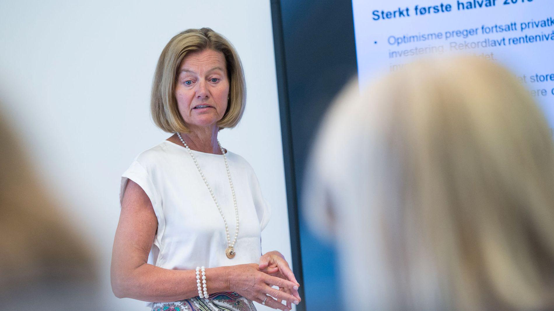 FÅR JUMBOPLASS: Administrerende direktør for Nordea Bank Norge, Gunn Wærsted, kunne rapportere om et «sterkt første halvår» i 2015. Tilfredsheten blant kundene er ikke like sterk.