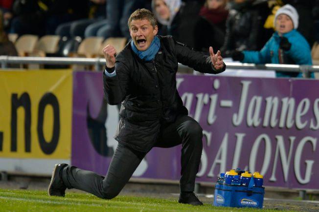 NY SUKSESS? Ole Gunnar Solskjær er tilbake i Molde. Her jubler han etter semifinalen i NM, Lillestrøm-Molde 6-7 etter straffekonk.