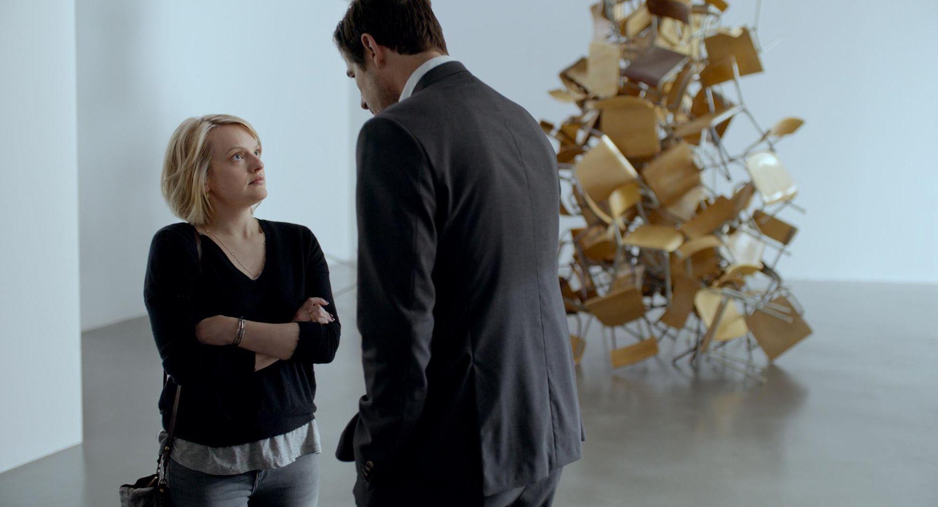 AVKLER KURATOREN: Elizabeth Moss i rollen som Anne og Claes Bang som museumskuratoren Christian.