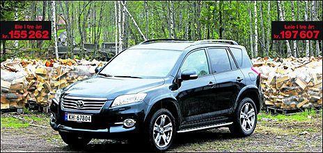 Det koster 42.000 kroner mer å leie en Toyota RAV i tre år enn å eie den. Foto: Jan Petter Lynau, VG