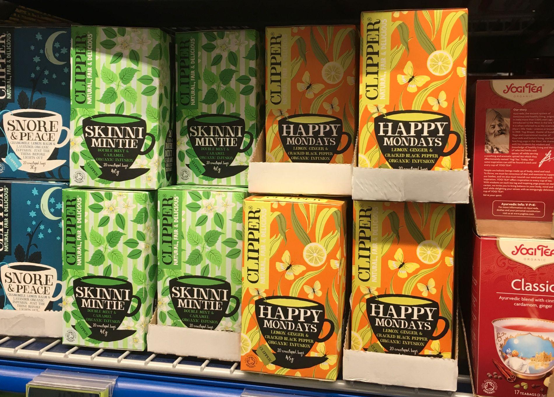 INN: Clipper, økologisk te.