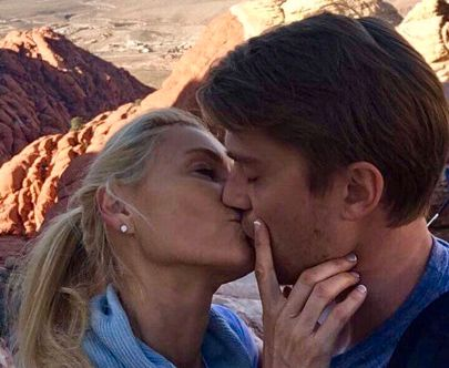LYKKELIG FORELSKET: Drøye åtte år etter skismissen fra Paul, har Anna Anka funnet kjærligheten med 27 år gamle David, som livnærer seg som personlig trener.