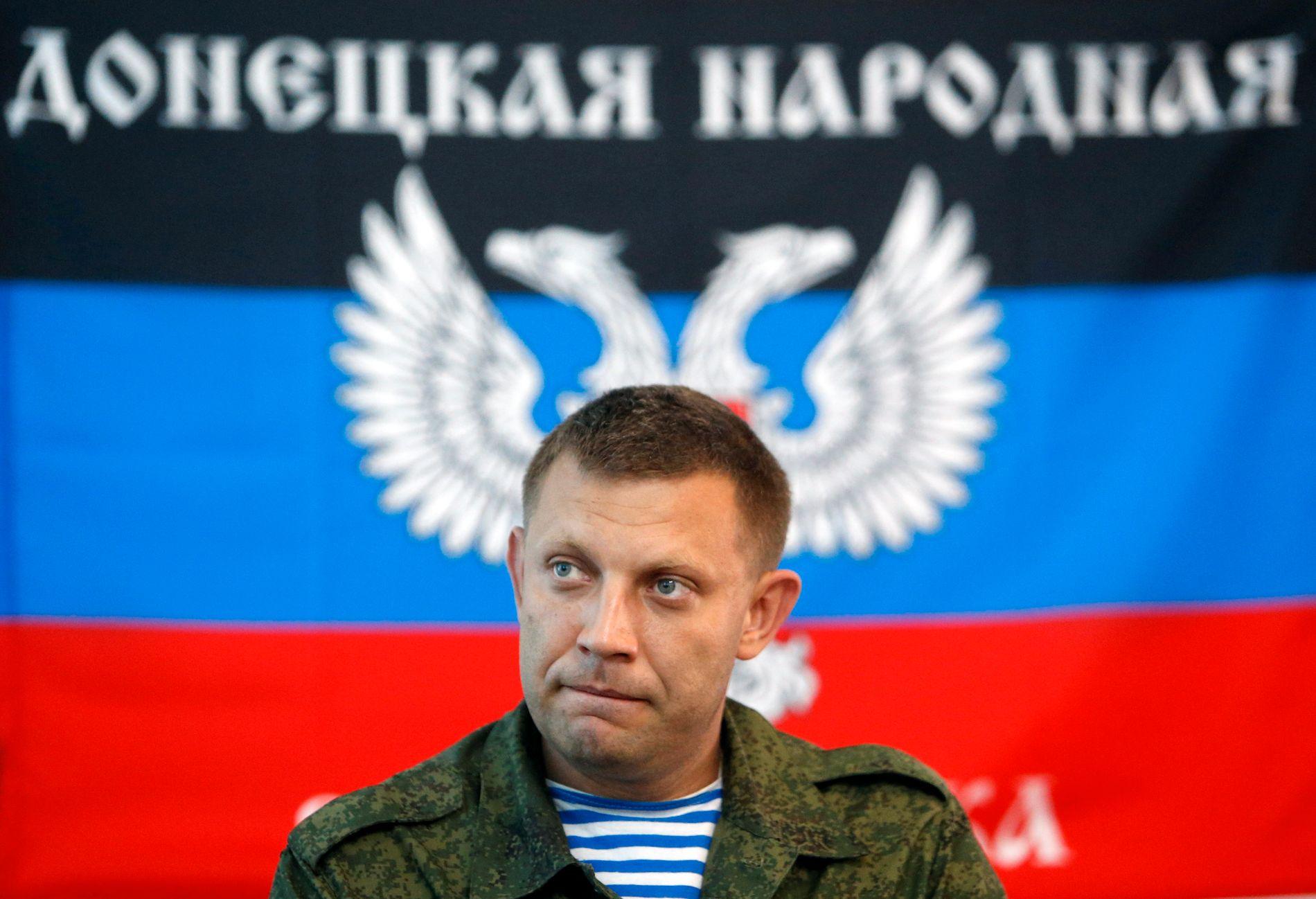 DREPT: Aleksander Zakhartsjenko var på en stamkafé da han ble tatt av dage av en bombe. En annen politiker i den såkalte «Folkerepublikken Donetsk» ble skadet i eksplosjonen.