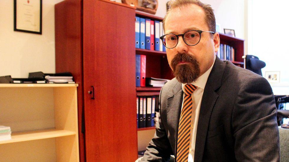 STATSADVOKAT: Tor Børge Nordmo ved Troms og Finnmark statsadvokatembeter har tatt ut tiltalen mot Svein Ludvigsen. Her er han avbildet i retten i forbindelse med en annen sak.